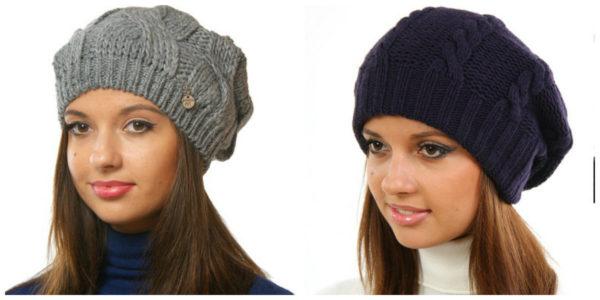 Вязание спицами модная шапка 68