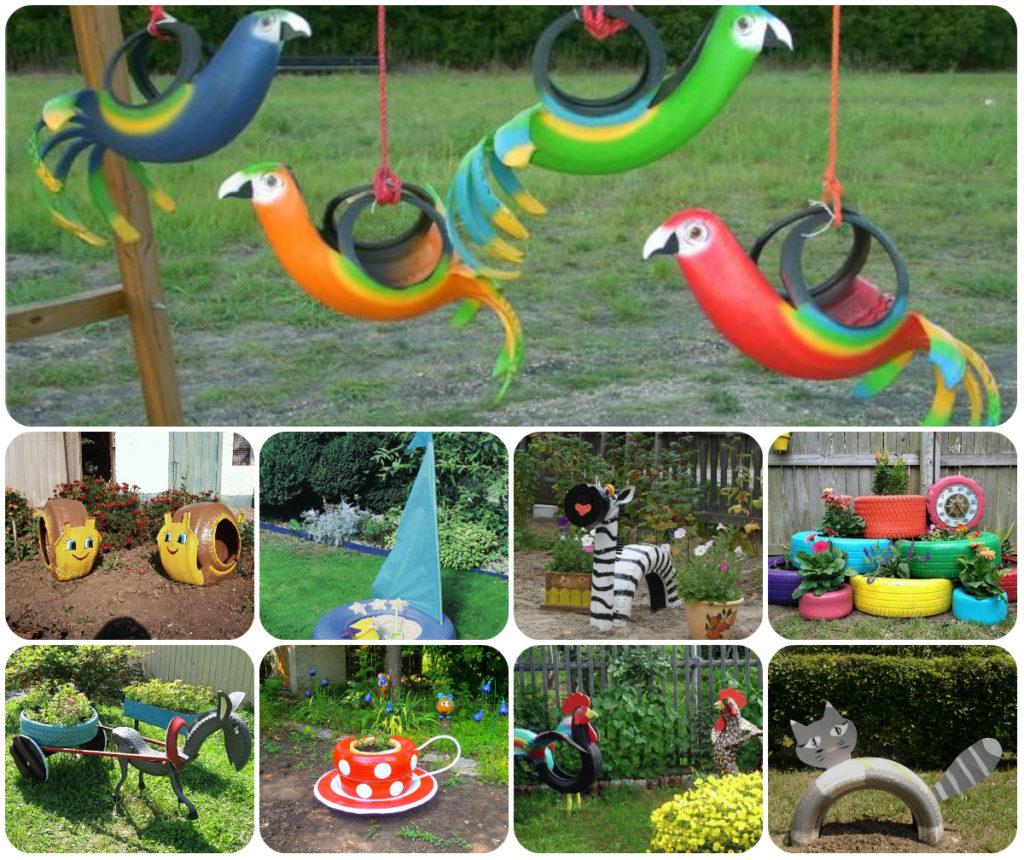 Детская площадка в детском саду своими руками из подручных материалов фото
