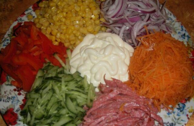 Салат ромашка рецепт с чипсами и капустой 117
