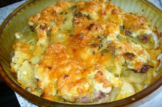 Мясо по-французски в духовке с картошкой с пошаговыми фото