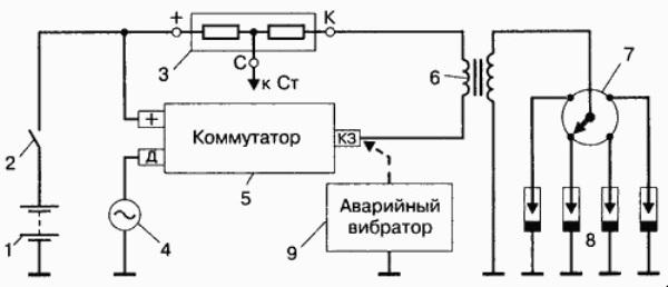 Схема электронного зажигания уаз 469 с вариатором