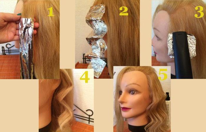 Укладка утюжком на средние волосы в домашних условиях 351