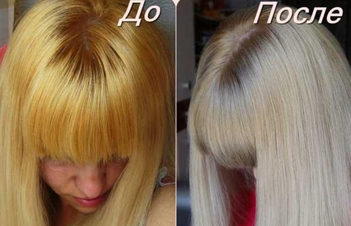 Как убрать желтизну с мелированных волос в домашних условиях 242