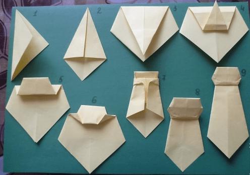 Сделать галстук из бумаги своими руками 5
