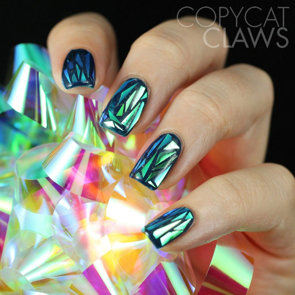 Эффект стекла на ногтях фото