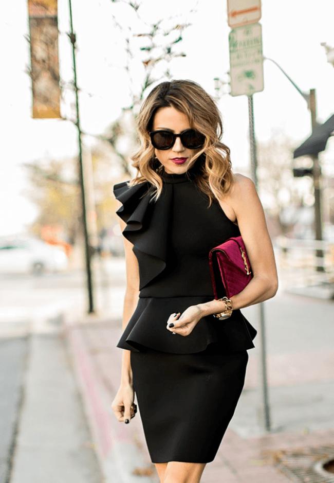З чим носити чорне плаття  100+ модних образів і поєднань на фото ... f09678c1260df