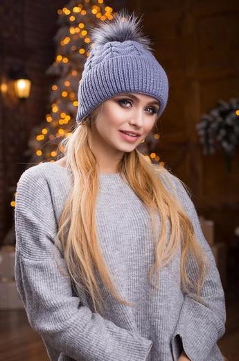... Жіночі вязані шапки на осінь і зиму 2018 2019  фото 0d5d00984596c