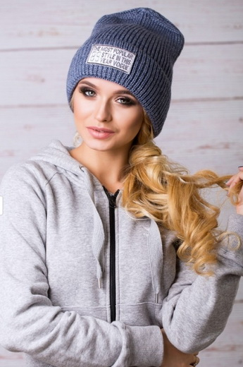 Жіночі в язані шапки на осінь і зиму 2018-2019  фото bbf8e4c745a6c