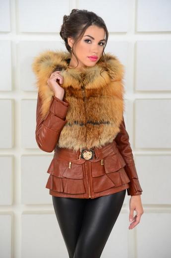 Жіночі шкіряні куртки 2019 2020 з натуральним і штучним хутром  фото і  кращі зимові хутряні ... 40f2bf66c4ed4