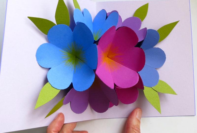 открытки из цветной бумаги своими руками простые инструкция вам помогла