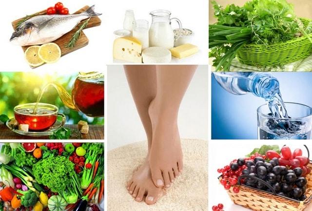 диета при отеках ног меню